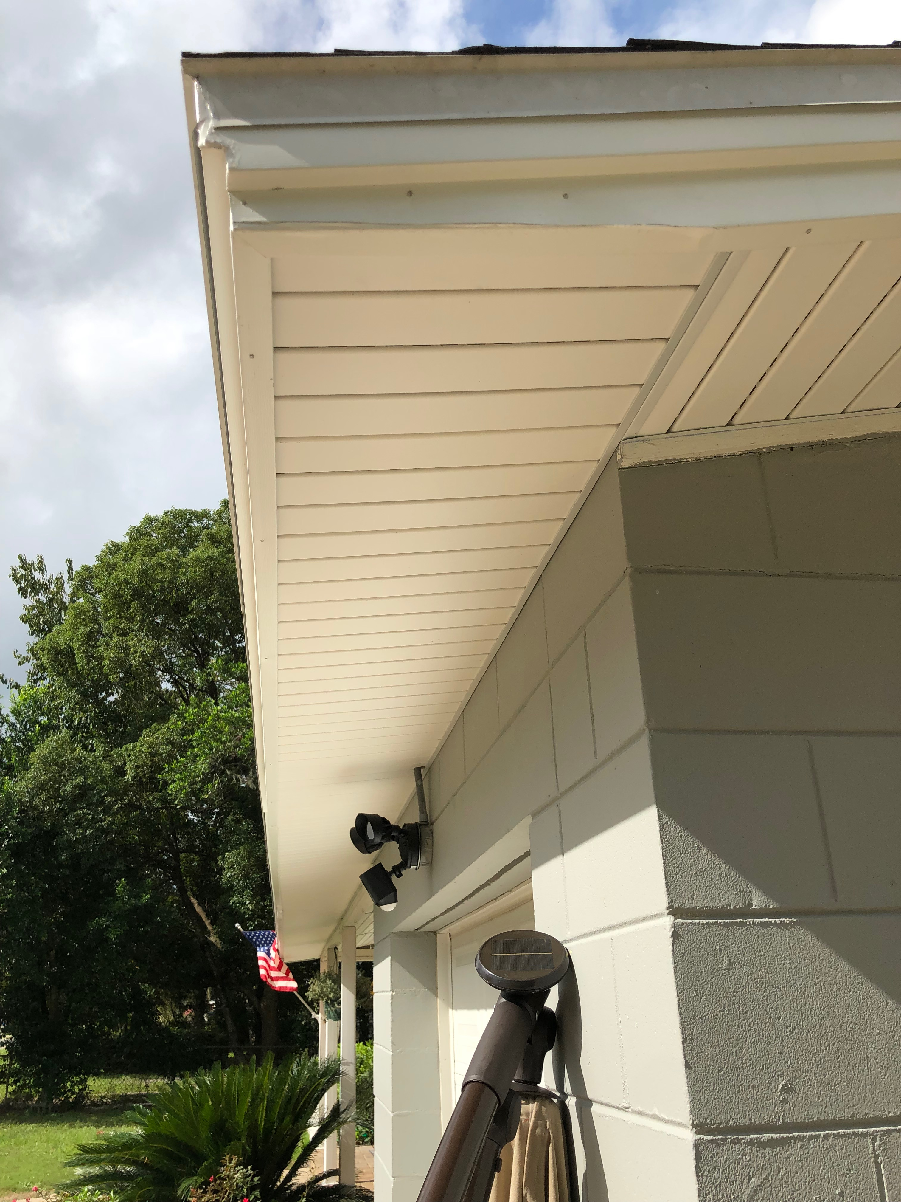 White Soffit Fascia Patio Cover Kms Systems Inc